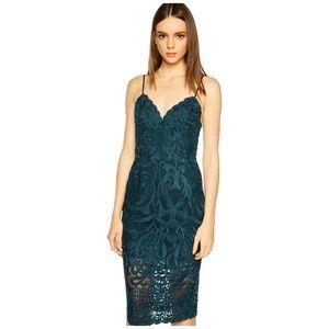 BARDOT Teal Green Gia Lace Pencil Dress Size 6